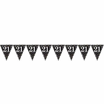 Amscan Sparkling Gold Celebration 21st Birthday Decorative Bunting