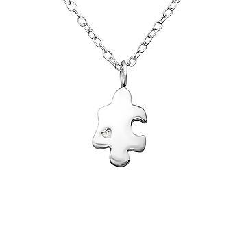Головоломки - 925 стерлингового серебра Обычная ожерелья - W27312x