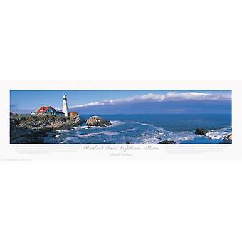 Portland Head Lighthouse Maine Poster Print by Harold Cochran (36 x 12)
