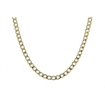 10k Yellow Gold Hollow Curb Link Chain Necklace, 4.3mm