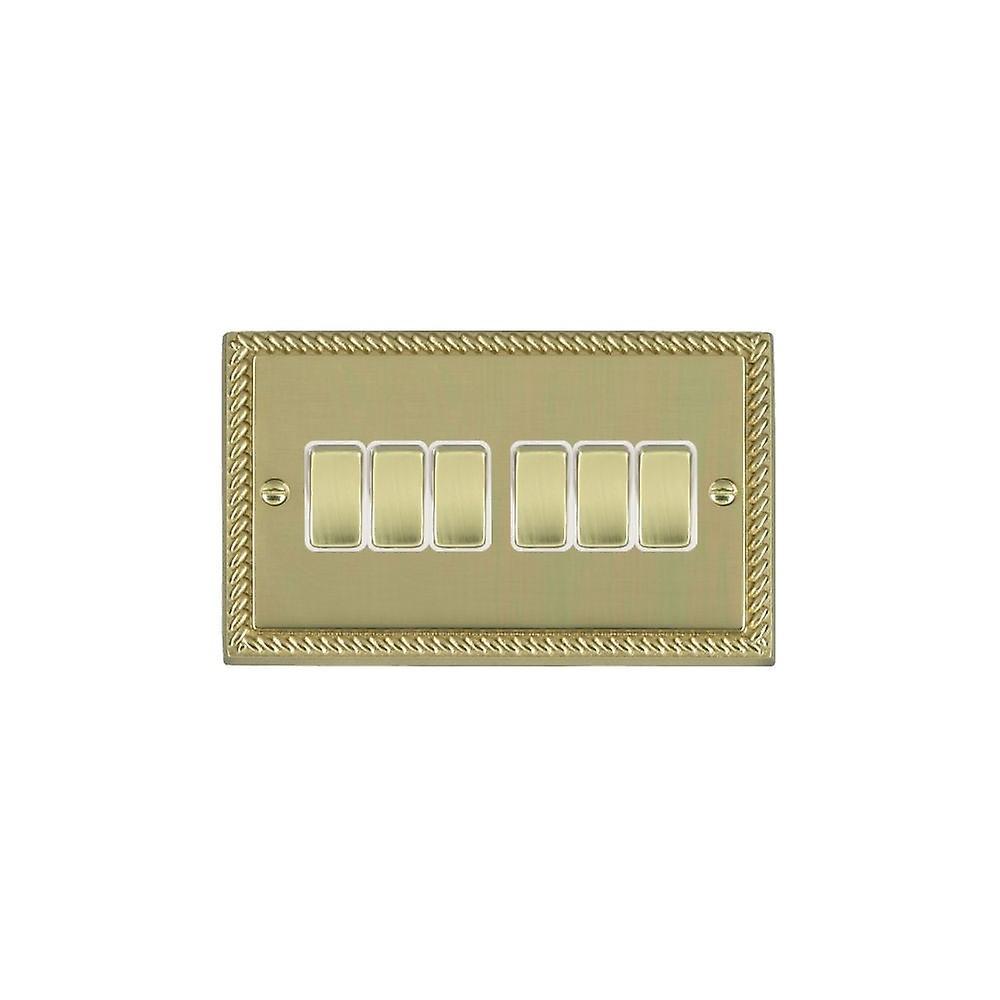 Hamilton Litestat Cheriton Georgian Polished Brass 6g 10AX 2 Way Rkr PB WH