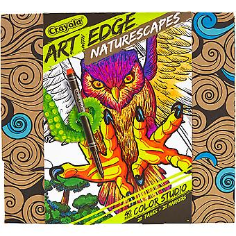 Crayola Art With Edge Coloring Book W/Markers-Naturescapes 04-0030