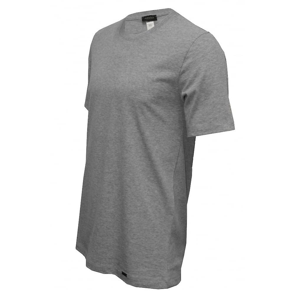 Hanro Living Jersey Crew-Neck T-Shirt, Grey Melange