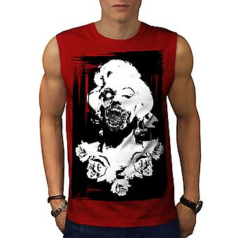 Monroe Zombie Celebrity Men RedSleeveless T-shirt | Wellcoda