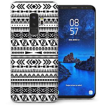 S9 Samsung Galaxy Plus tierra Azteca edredón Gel de TPU – blanco
