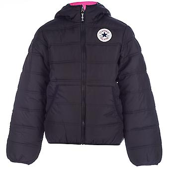 Junior Girls Converse Hooded Polyfill Jacket In Black