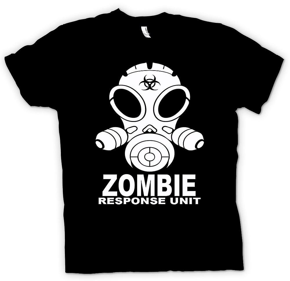 Mens t-skjorte - Zombie respons enhet - Gasmask