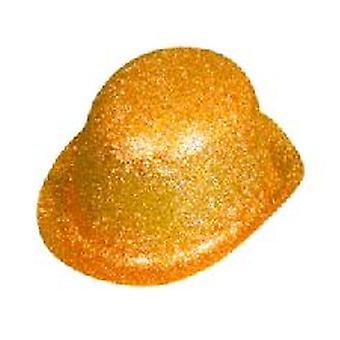Guld Glitter bowlerhat