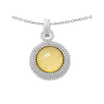 Orphelia Silver 925 Chain With Pendant Gold Sheet   ZH-6041/2
