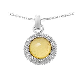 Orphelia sølv 925 kæde med vedhæng guld ark ZH-6041/2
