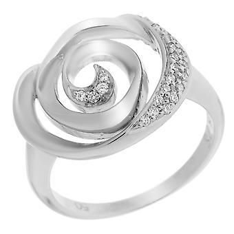 Orphelia Silver 925 Ring Spiral  Zirconium   ZR-7087