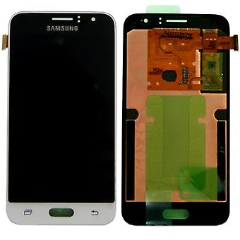 Display LCD complete set GH97 18224A white Samsung Galaxy J1 J120F 2016
