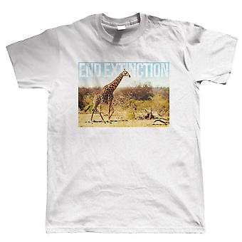 End Extinction Giraffe, Mens T Shirt