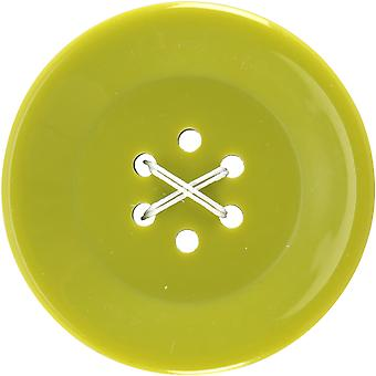 6 Hole Buttons-Large Lime 1-3/4