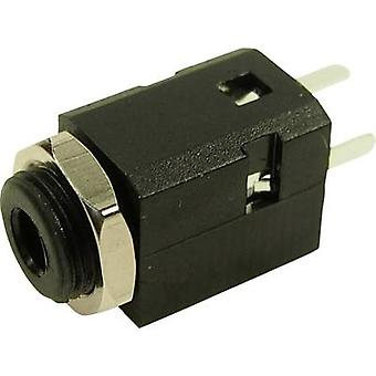 Cliff FC681375VH 3.5 mm audio jack Socket, built-in Number of pins: 3 Stereo Black 1 pc(s)