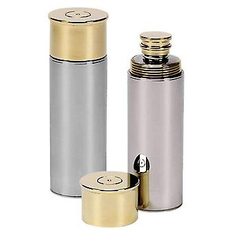 Orton oeste 3oz cartucho Hip Flask - plata/oro