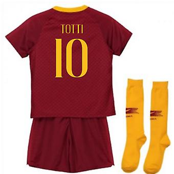 2018-2019 AS Roma Home Nike Little Boys Mini Kit (Totti 10)