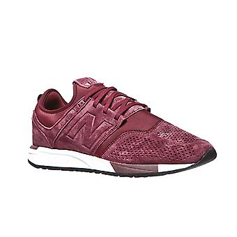 New balance 247 men real leather sneakers Red