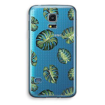 Samsung Galaxy S5 Mini Transparent Case (Soft) - Tropical leaves