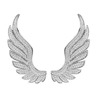 Latelita Angel Wing Ear Climber Earrings 925 Sterling Silver CZ Jewellery Wings