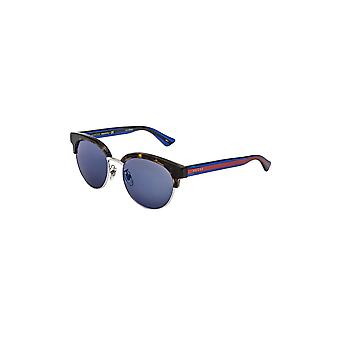 Gucci  Women's Gg0058Sk 004Blue Mirror Sunglasses