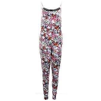 Dames verstelbare riem Multi kleur bloemen Stretch alle in één vrouw Jumpsuit