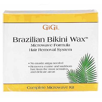 GiGi ब्राजील बिकनी मोम माइक्रोवेव किट