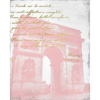 Paris in Pink 2 Poster Print by Allen Kimberly