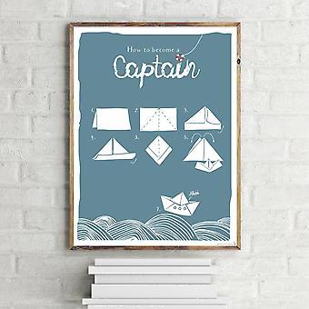 Cómo ser un capitán arte, Janette pequeño formato de la impresión
