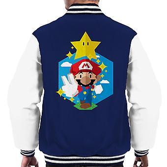 Her går vi Super Mario menn Varsity jakke