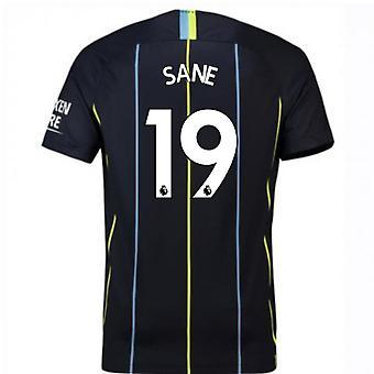 Camisa de futebol 2018-2019 homem cidade fora Nike (são 19) - crianças