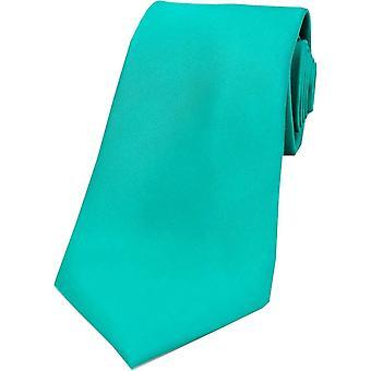 David Van Hagen Satin Seide Krawatte - Seegrün