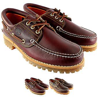 Herre Timberland arv klassiske Lug læder snøre båd sko