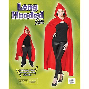 Bnov Long Red Hooded Cape