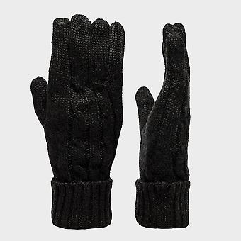 Peter Storm Women's Cable Knit Gloves Black