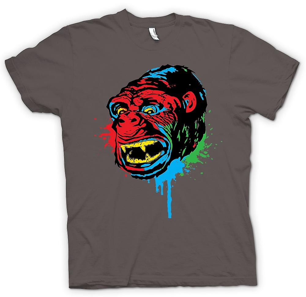 Womens T-shirt-Pop Art - Ape Gorilla - Cool Design
