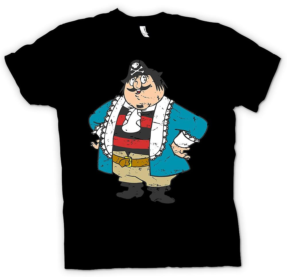 Mens T-shirt - Captain Pugwash Cartoon - Retro