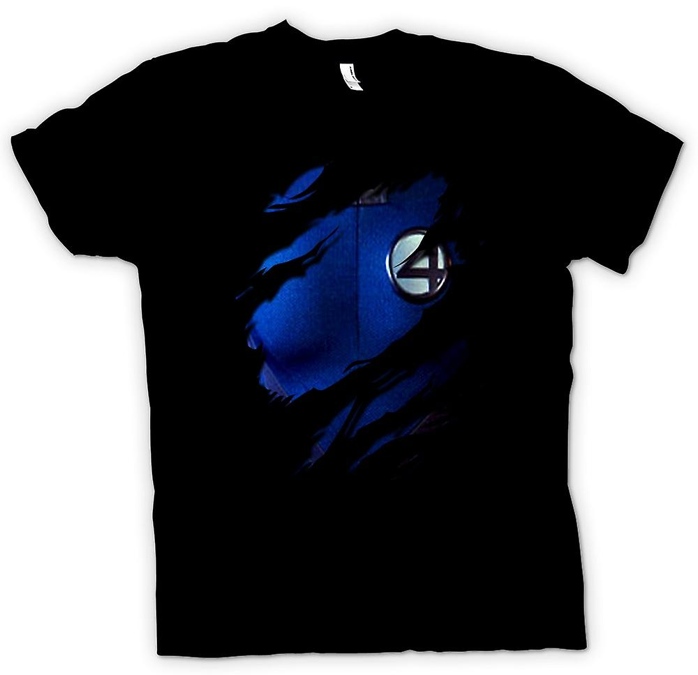 Heren T-shirt-Reed richards Mijnheer Fantastic - fantastische 4-kostuum - superheld geript Design