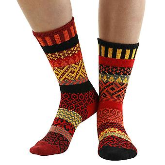 Fire recycled cotton multicoloured odd-socks | Crafted by Solmate