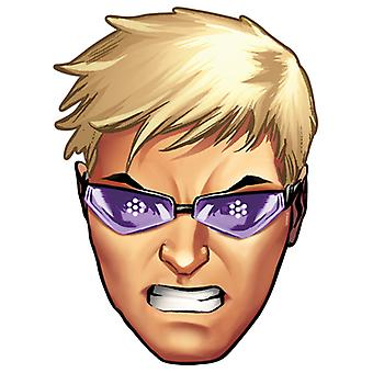 Hawkeye van Marvel's The Avengers Single Card Party Face Mask