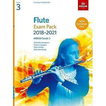 Fløjte eksamen Pack 2018-2021, ABRSM Grade 3: Valgt fra 2018-2021 pensum. Score & del, Audio Downloads, skalaer & Sight-Reading (ABRSM eksamen stykker)
