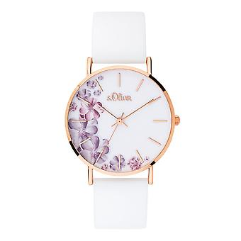s.Oliver ladies watch wrist watch silicone SO-3706-PQ