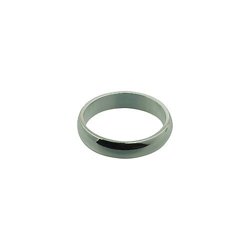 Silver 5mm plain D shaped Wedding Ring Size Z