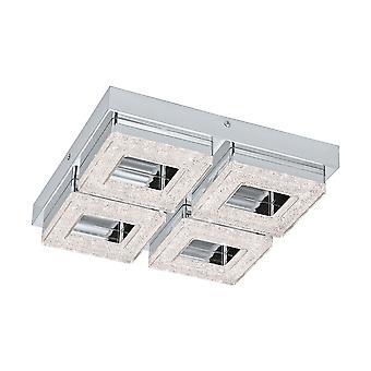 Eglo - Fradelo 4 LED quadrato in cristallo EG95657 di montaggio a soffitto