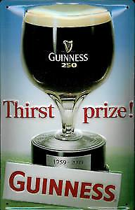 Guinness Thirst Prize metal postcard / mini sign
