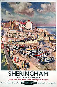 Sheringham, Norfolk (old rail ad.) fridge magnet