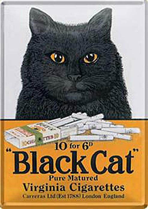 Blck Cat Cigarettes metal postcard / mini-sign    (na)