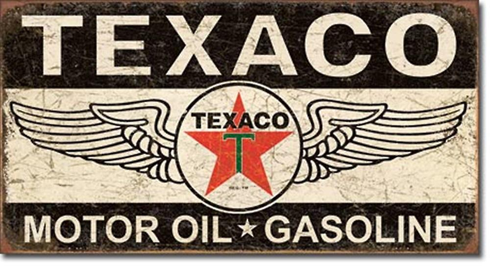 Texaco Winged Logo weathered metal sign    (de)