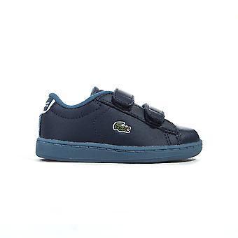 Lacoste Carnaby Evo Strap Infant Kids Boys Trainer Shoe Blue