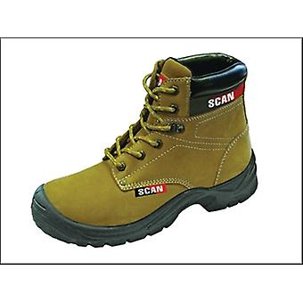 Scan Cougar Nubuck Safety Boots S1p Uk 12 Euro 46